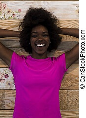 portrait of afro american woman
