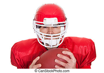 Portrait of American Football player