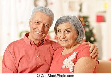 old couple at Christmas