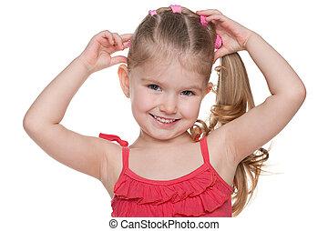 Portrait of an adorable little girl