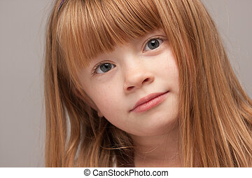 Portrait of an Adorable Red Haired Girl