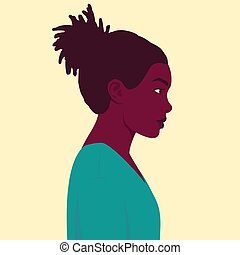 Portrait of an African woman in profile