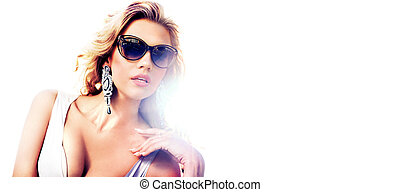 Portrait of an alluring blond lady - Portrait of an alluring...