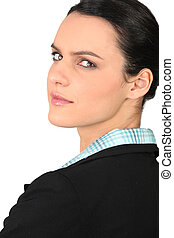 Portrait of an ambitious businesswoman