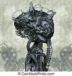 Portrait of an antique cyborg - Antique Cyborg