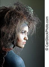 Portrait of an artistic woman