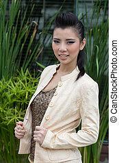 Portrait of an Asian girl.
