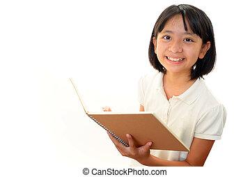 Portrait of an Asian schoolgirl