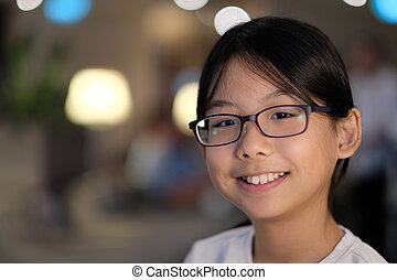 Portrait of an Asian teenager girl