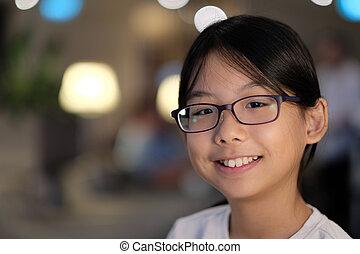 Portrait of an Asian teenager girl