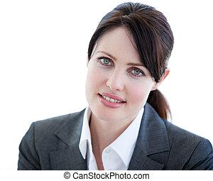 Portrait of an attractive businesswoman standing
