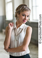 attractive fashionable young woman