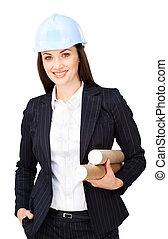 Portrait of an attractive female architect