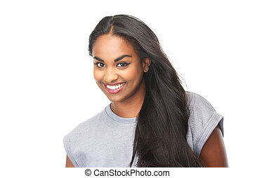 Portrait of an attractive female smiling