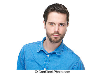 Portrait of an attractive male fashion model