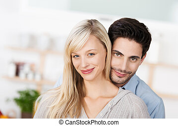 Portrait of an attractive smiling young couple
