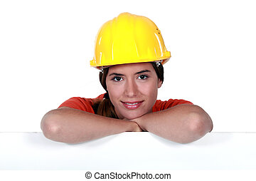Portrait of an attractive tradeswoman