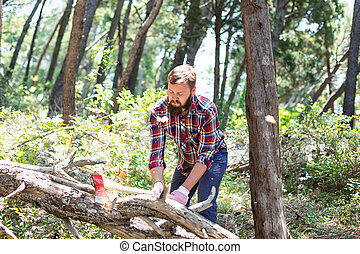Portrait of an attractive young lumberjack