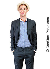 Portrait of an attractive young businessman - smiling