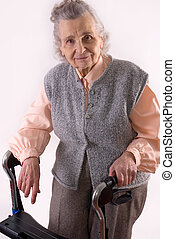 healthcare - portrait of an elderly woman needs healthcare