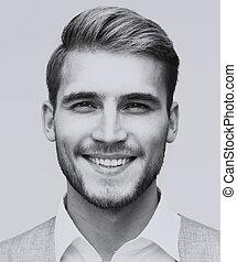 Portrait of an elegant handsome man smiling