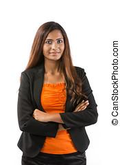 Portrait of an Indian businesswoman.