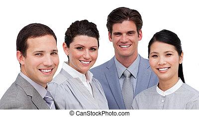 Portrait of an international business team