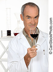 portrait of an oenologist