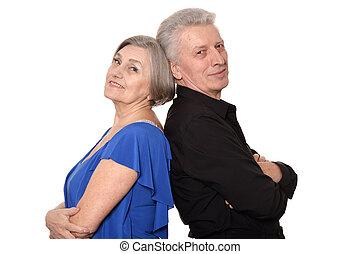 Portrait of an older couple - Close-up portrait of an older...