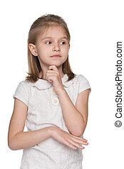 Portrait of an upset little girl