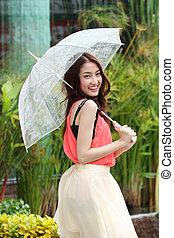 Portrait of Asian beautiful female