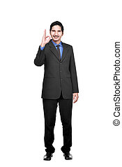 Portrait of asian businessman showing okay sign