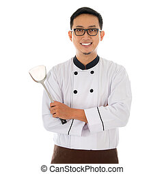 Portrait of Asian chef