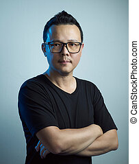 Portrait of asian confident young man
