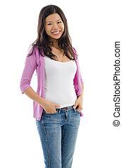Portrait of Asian female smiling