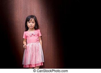 Portrait of Asian happy little girl , smile