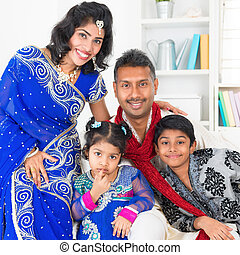 Asian Indian family at home