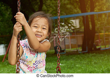 Portrait of asian small girl
