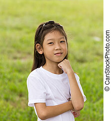 Portrait of Asian young girl