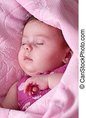 portrait of asleep little girl