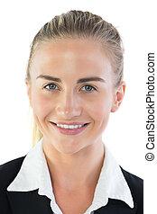 Portrait of attractive blonde businesswoman