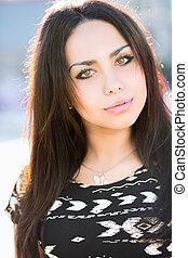 Portrait of attractive brunette