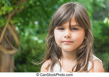 Portrait of attractive little girl
