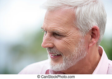 Portrait of attractive mature man
