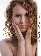 portrait of attractive nude woman