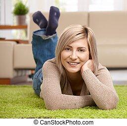 Portrait of attractive woman