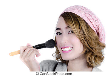 Portrait of attractive young adult Asian woman