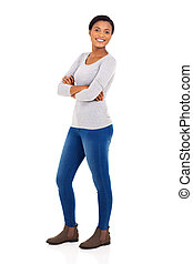 young african american woman posing