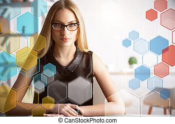 Job and digital concept