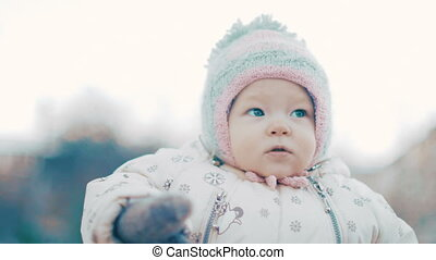 Portrait of Baby Girl at winter